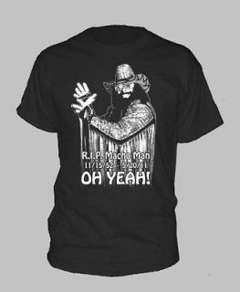 RIP MACHO MAN ~ T SHIRT Randy Savage Wrestling Tribute ALL SIZES AND