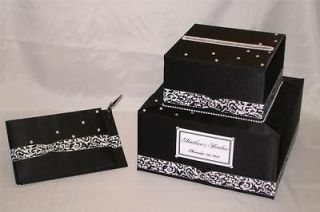Custom Made Wedding Card Box Guest Book /Pen  any color combination