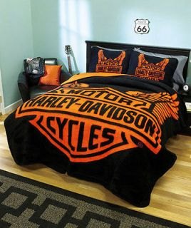 harley davidson queen size bedding in Bedding