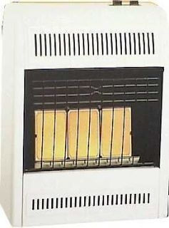 THREE PLAQUE NATURAL GAS WALL HEATER GAS HEATER 18,000 BTU