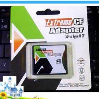 SD MMC SDHC 4/32GB to Compact Flash CF Type II Card Reader Adapter gu