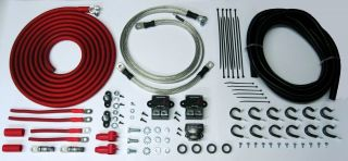 AWG Battery Relocation Kit with Complete Electrical Protection