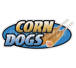 DOGS Concession Decal hot dog cart trailer stand sticker equipment
