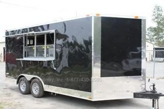 16 8.5X16 Enclosed Concession Food Vending BBQ Trailer W/ Equipment
