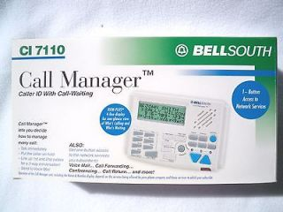 BellSouth Call Manager CI 7110 Caller ID Call Waiting Conference Call