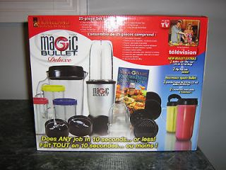 MAGIC BULLET DELUXE BLENDER 25 PIECE SET NEW IN BOX