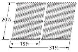 Charmglow Replacement Stainless Steel Cooking Grids Part 59S02