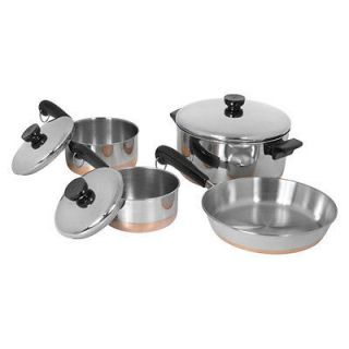WARE 7pc Stainless Steel Copper Clad Bottom Cookware Set BRAND NEW
