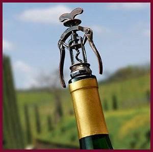 Vintage Antique Corkscrew Wine Bottle Stopper, Antique Bronze Finish