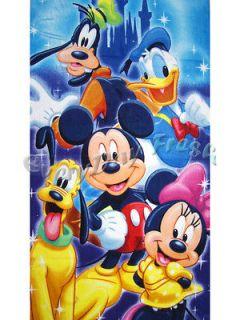 NEW Mickey Mouse Minnie Donald Duck Goofy Beach Bath Soft Cotton Towel