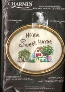 Charmin Counted Cross Stitch Kit Home Sweet Home 6 x 7