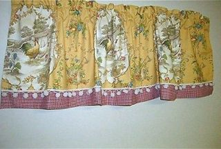 French Country Valance Country Fair Toile Rooster, Farm