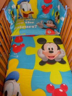 Disney Mickey Mouse Donald Duck Puzzle BEDDING SET   all sizes