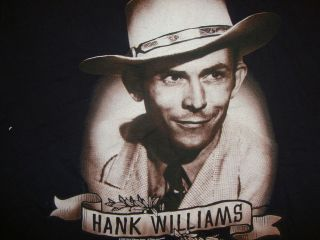 Hank Williams Country Music Artist Songwriter Black Graphic Print T