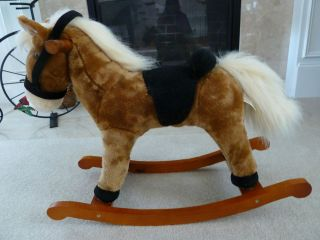Dan Dee Collectors Choice Plush Childs Toddlers Rocking Horse . Tan