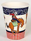 Boys HOWDY COWBOY PARTY PAPER CUPS/PLATES/NAPKINS or GARLAND birthday
