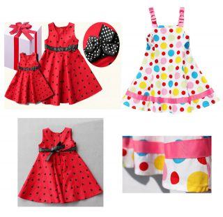 Children Dress Red White Polkadot Love Party Holiday Birthday Girl 1