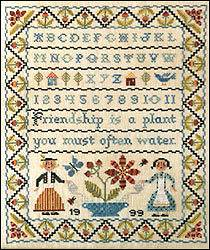 Friendship Sampler Birds of a Feather Cross Stitch Chart OOP