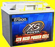 XS Power Deep Cycle 12 Volt 12V AGM Power Cell Battery D1200 Brand New