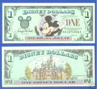 1999 DISNEY DOLLAR   MICKEY SERIES A