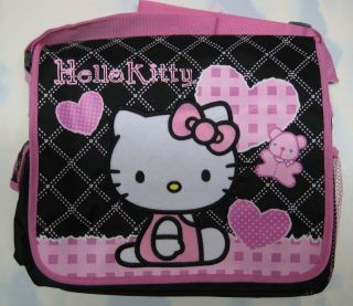 Sanrio HELLO KITTY School Messenger Diaper Tote Bag Large Girl BLACK
