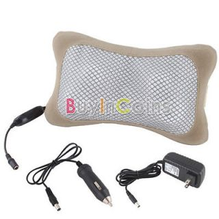 Body Massage Lumbar Pillow Waist Pad Seat Back Cushion w Adapter