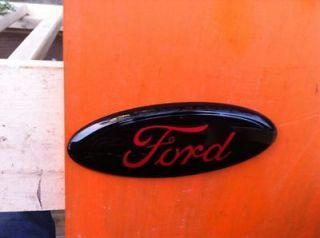 2004 11 Ford f 250 ,9 GRILLE/Tailgate EmblemCUSTOM,BLACK RED