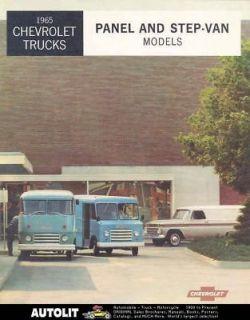 1965 Chevrolet Panel & Step Van Truck Brochure