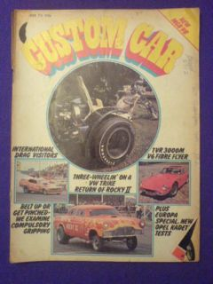 CUSTOM CAR   VW TRIKE   October 1973