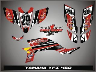 09 12 YAMAHA YFZ 450R 450X GRAPHICS KIT YFZ 450 SEMI CUSTOM GRAPHIC