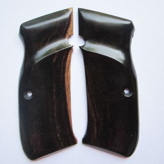 HOT NEW WOOD CHECKERED GRIPS FOR CZ 75 85, FULL SIZE, HANDMADE, LUXURY