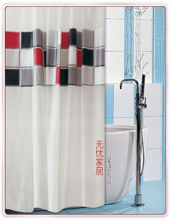 Black Red Shower Curtain In Curtains