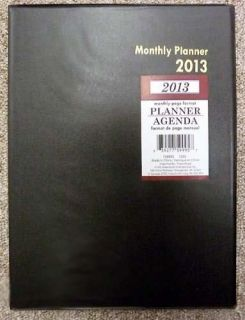 NEW 2013 MONTHLY EXECUTIVE DELUXE OFFICE SCHOOL AGENDA PLANNER BLACK
