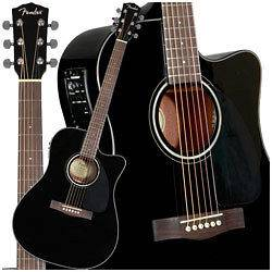 Fender CD140SCE Acoustic Elect​ric Guitar Dreadnought Cutaway Black