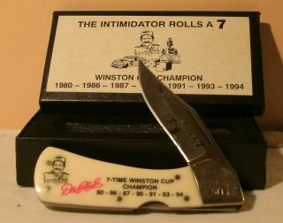 Dale Earnhardt 7 Time Winston Cup Champion Knife NIB