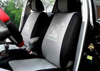 2012 new handmade lovely snoopy grey fashion seat cover car seat cover