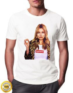 New Kate Moss SUPREME Special Edition Printed T Shirt Mens Womens
