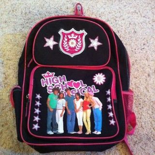 icarly large school backpack book bag purple features