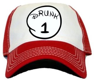 New Custom Drunk 1 One Cool Funny Humor Drinking Trucker Hat Cap