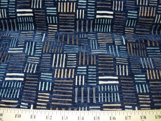 10 YDS~ MODERN GEOMETRIC~CUT VELVET~ON LINEN UPHOLSTERY FABRIC~FABRIC