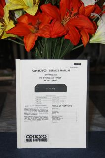 ONKYO INTEGRA T 4087 FM STEREO / AM TUNER SERVICE MANUAL