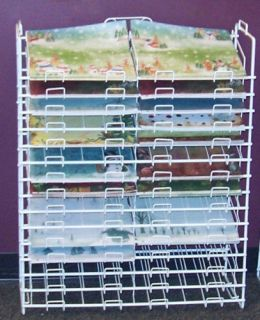 12 x 12 Scrapbook Paper Storage Rack Display 30 Slot