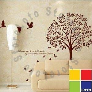 30 Colour Decorative Wall Paper Art Sticker Pipal large Tree + Birds