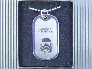 Star Wars Stormtrooper Helmet Dog Tag Necklace