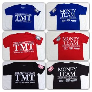 Money Mayweather Boxing T Shirt HARD WORK & DEDICATION Money Team TMT