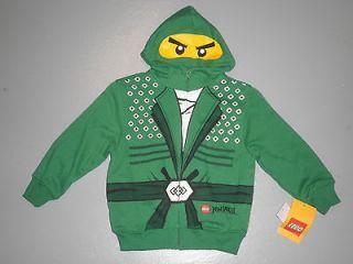 NWT LEGO NINJAGO LLOYD Boys Hoodie Sweatshirt size 5 Costume Green