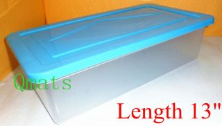 13 Shoe Boxes Organizers Plastic Storage Containers Bins Case W/ LIDS