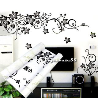 Removable Wall Stickers Wall Decals Art Black Decal Decor Sticker VE4A