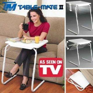 Folding Foldable Portable Mate TV Dinner Laptop Tray Side Table Desk