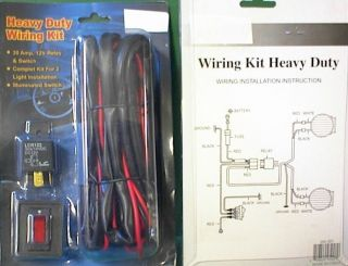 WIRE KIT FOG LIGHTS WIRING HARNESS DRIVING LAMPS